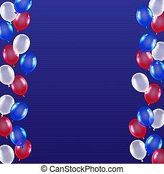 red blue white balloon background usa flag theme