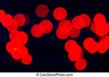 Red Blurred Celebration Fairy Lights