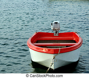 Red boat.