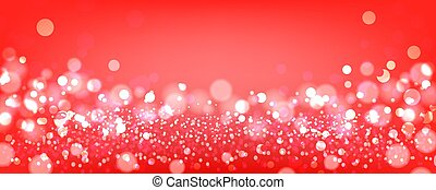 Red bokeh background. Red festive background with bokeh. Vector illustration