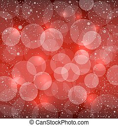 red bokeh snow background