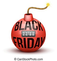 Red Bomb About To Blast with Black Friday sales tag.