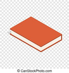 Red book isometric icon