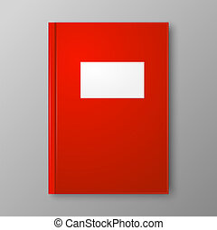 Red Book on gray background