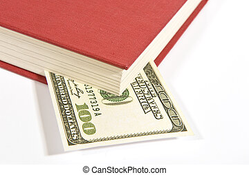 Red Book With Hundred Dollar Bill