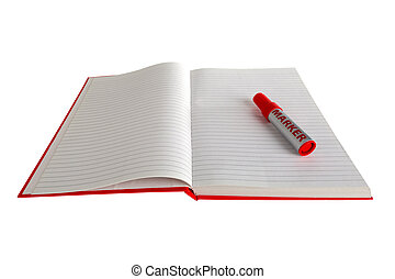 Red Book with Marker