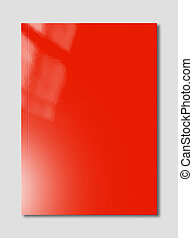 Red Booklet cover template - Red booklet cover isolated on ...