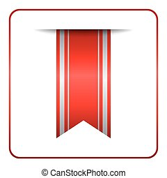 Red bookmark banner tag