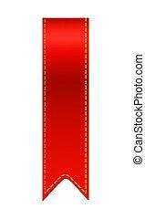 Red bookmark ribbon