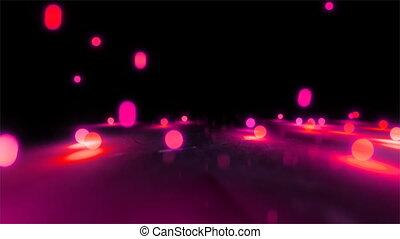 red Bouncing light balls closeup