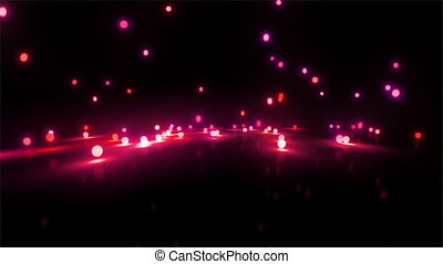 red Bouncing light balls wide