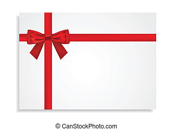 Red Bow Around the Gift Card
