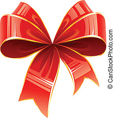 red bow vector illustration isolated on white background