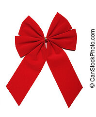 Red Bow (CLIPPING PATH INCLUDED)