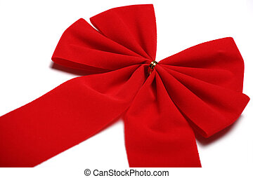 Red Bow Close-Up