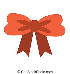 red bow flat illustration on white