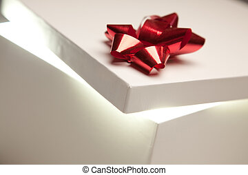 Red Bow Gift Box Lid Showing Very B
