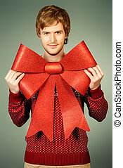 red bow gift
