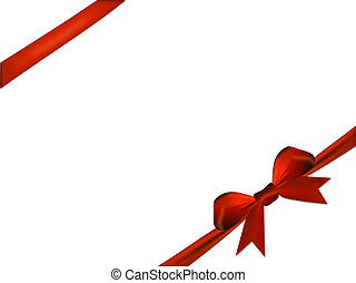 Red bow isolated on a white background
