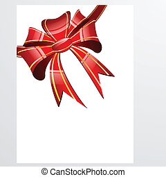 Red bow on a white background
