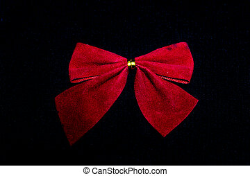 red bow on black