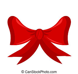 Red bow - Red Christmas vector bow