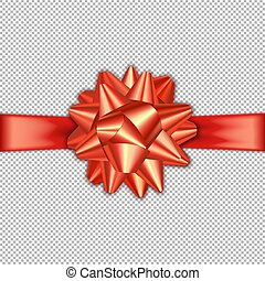 Red bow ribbon banner