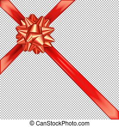 Red bow ribbon cross