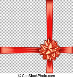 Red bow ribbon cross with a left