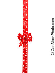 red bow, ribbon isolated on white
