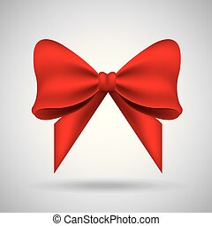 red bow ribbon tied decoration ornament