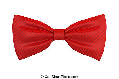 Red bow tie. 3d illustration isolated on white background