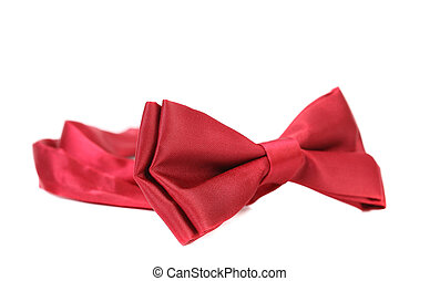 red bow tie isolated on white