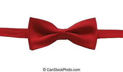 bow tie - red bow tie-isolated