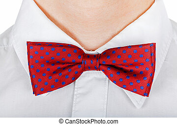 Red bow tie - Close up photo of a red bow tie