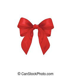 red bow, vector illustration