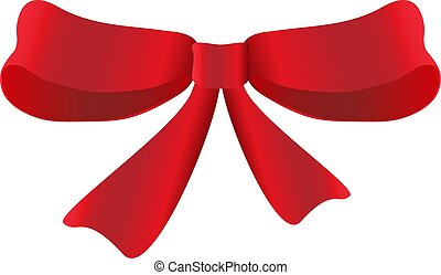 red bow vector illustration on white background