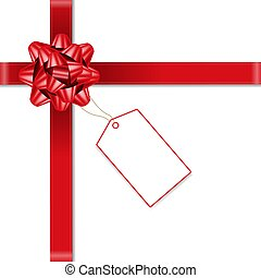 Red Bow With Price Tag