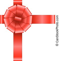 red bow with ribbons vector