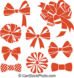 red-bows-set