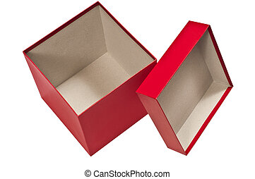 Red Box Empty With Lid