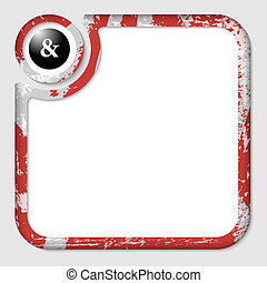 red box for inserting text with pattern and ampersand