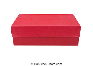 red box for shoes isolated on white background