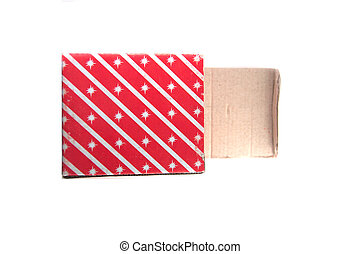 Red box on white background