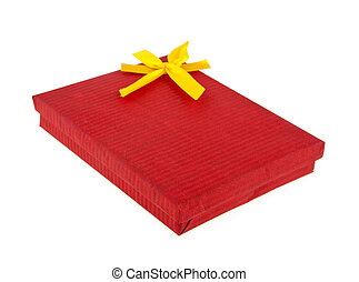 red box with a yellow bow