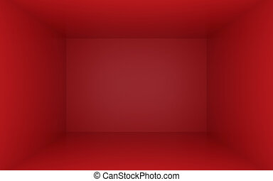 Red box with dark edges inside