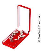 Red box with jeweller