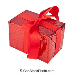 red box with ribbon
