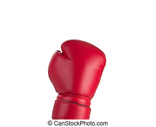 Red boxe glove up