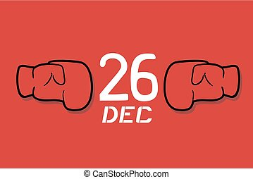 red boxing day advise - Creative design of red boxing day...